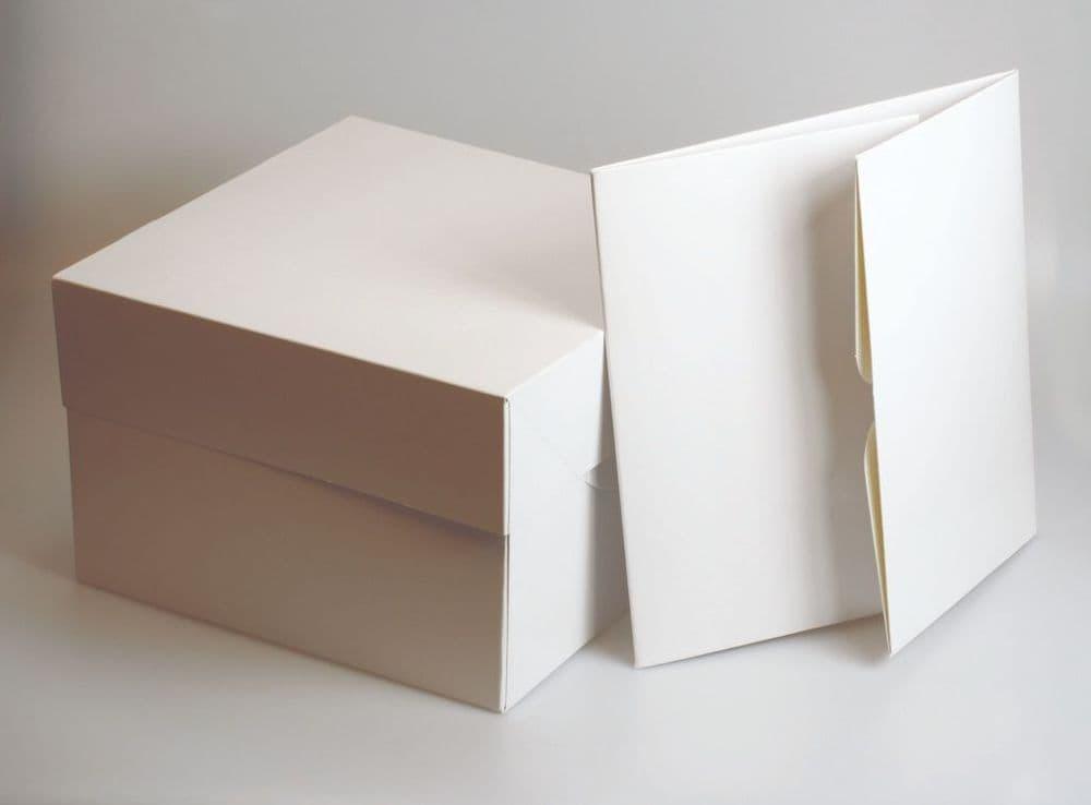 "Culpitt Square White Cake Box - 10"""